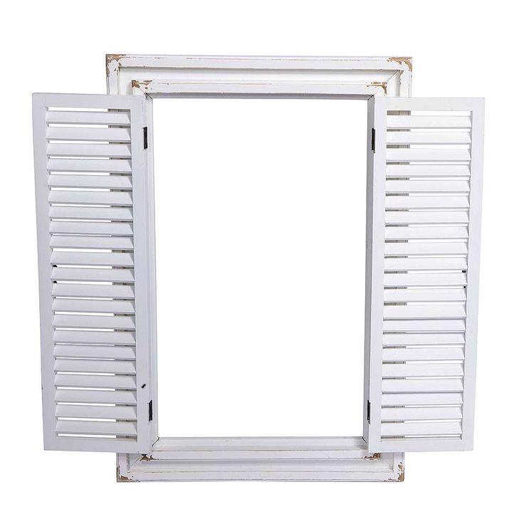 Vintage Fenster 71 x 48 cm, weiß