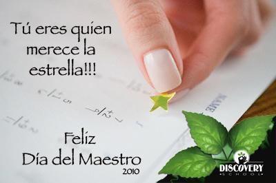 Feliz día del maestro!!!