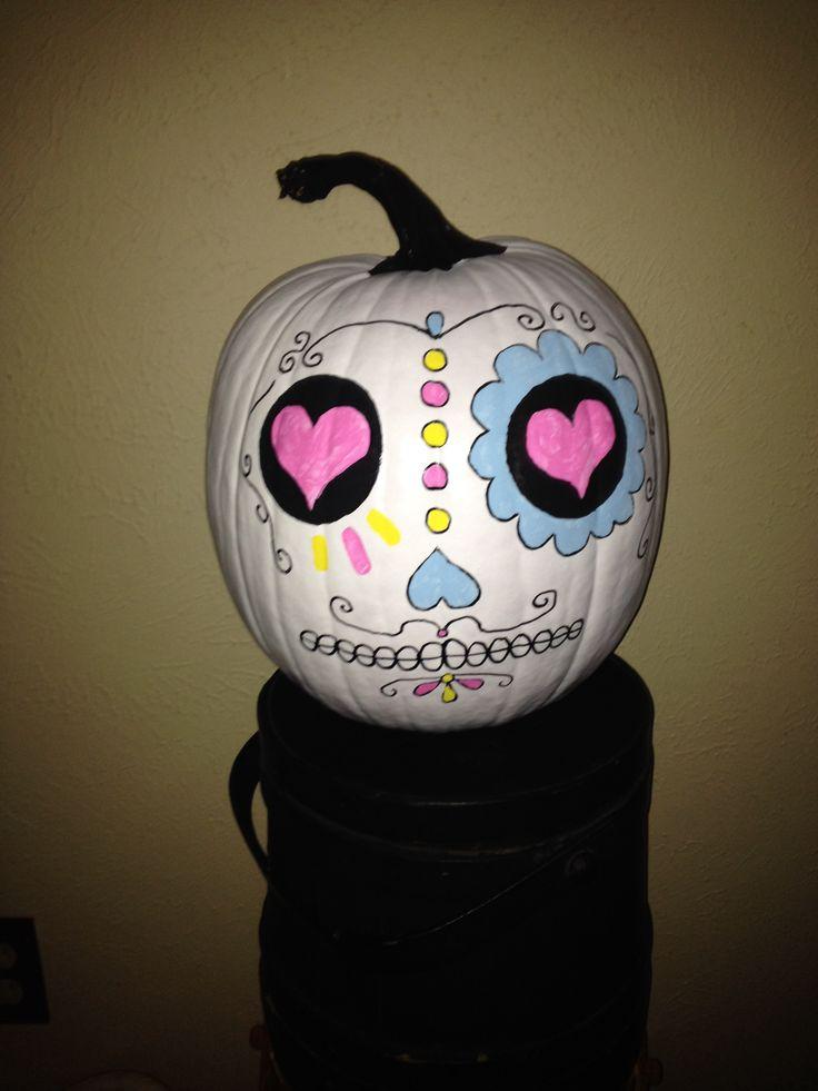 Sugar skull pumpkin | Fall Winter Home Stuff | Pinterest ...