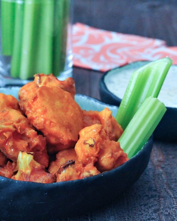 Vegan Air Fryer Buffalo Cauliflower - tangy and spicy, this quick and easy recipe is essential to any game day, happy hour party, or random Thursday.