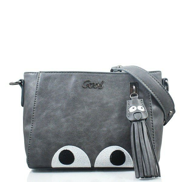 Sling Bag GOSH Tas Wanita Srempang Cangklong Women Bag Trendy Cantik bagus  lucu unik Sling Bag warna abu-abu grey tas wanita motif b… a486b89319