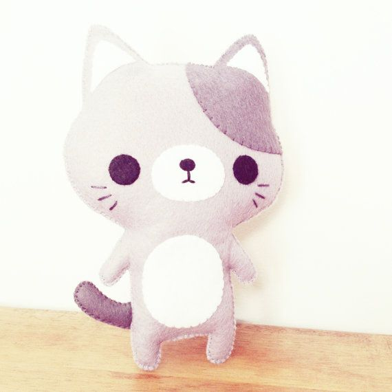 chat en peluche jouet peluche chat kawaii par littlehappystitches