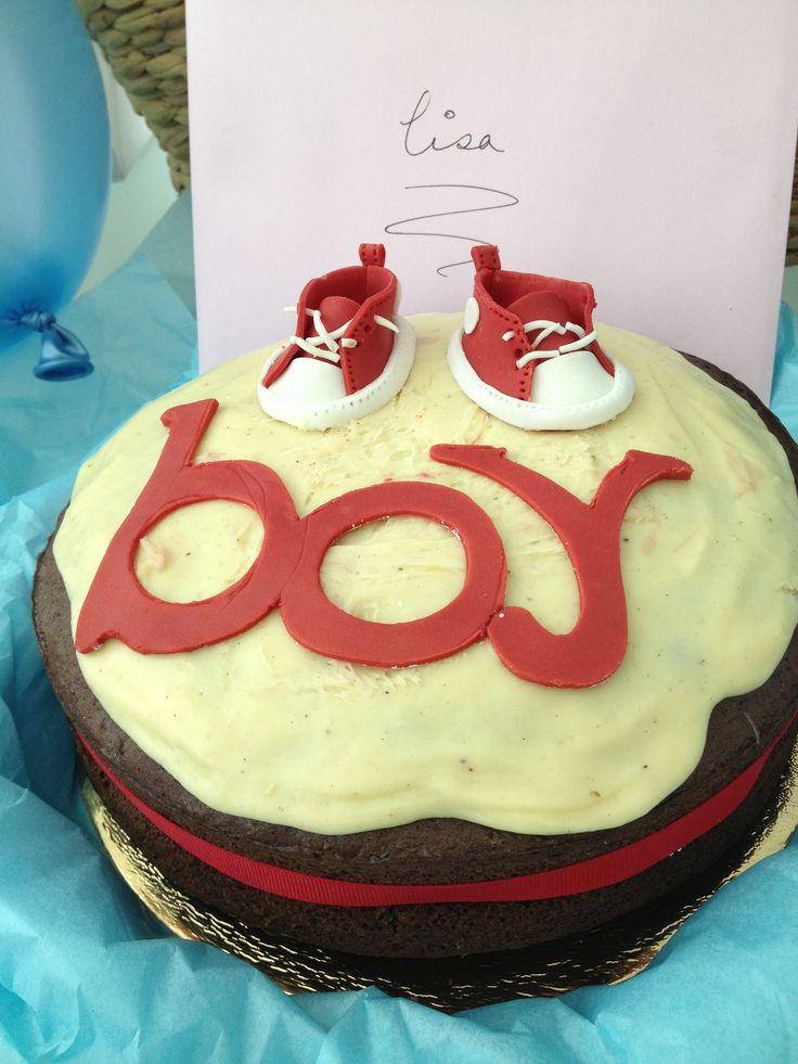 Baby boy, baby shower cake