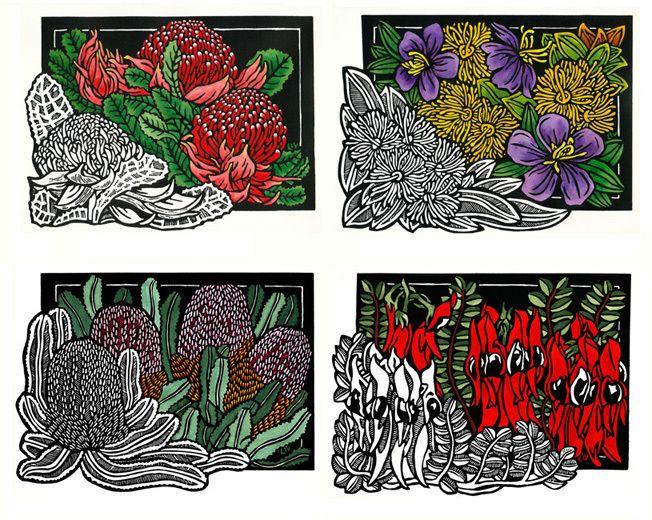 Classic Wildflowers Set of 4 WEB