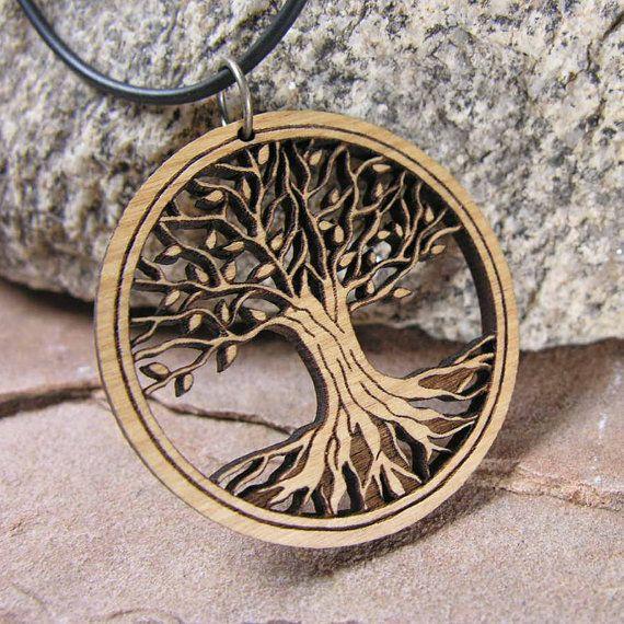 Tree of Life Pendant Sustainable Wood Jewelry Medium by BijouxBee, $18.00