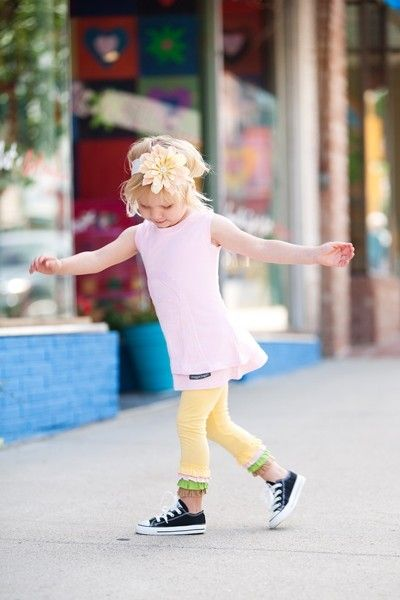Ice Cream Leggings // Girls' Ruffle Leggings by MaggieBogart, $32.00