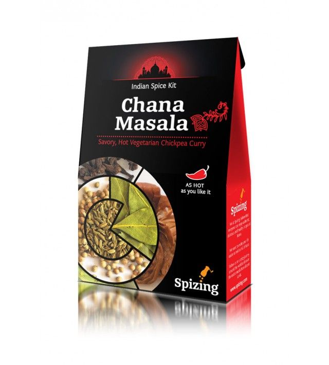 Комплект подправки Spizing за ЧАНА МАСАЛА (Пикантно вегетарианско къри с нахут)