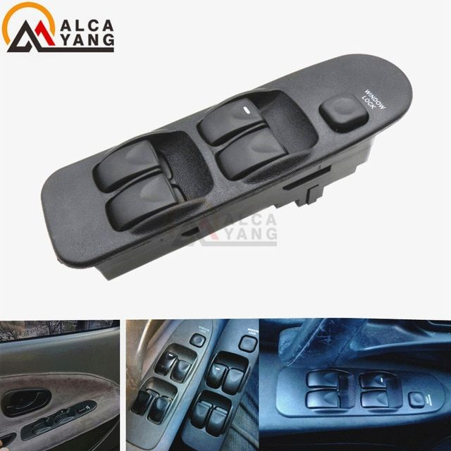 Electronic Power Window Switch Control Master Panel Switches Front Universal Right Left 5bottons Fit Mitsubishi Carisma Mr740599 Rev Switches Mitsubishi Switch