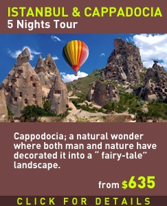 """Istanbul & Cappadocia /5 Nights   Visit a natural wonder where both man and nature have decorated it into a """" fairy-tale"""" landscape. Above the ground, the elements and volcanic eruptions have shaped rocks into balancing acts of cones, known as the """"fairy chimneys"""". Istanbul - Bolu - Ankara - Cappadocia"""