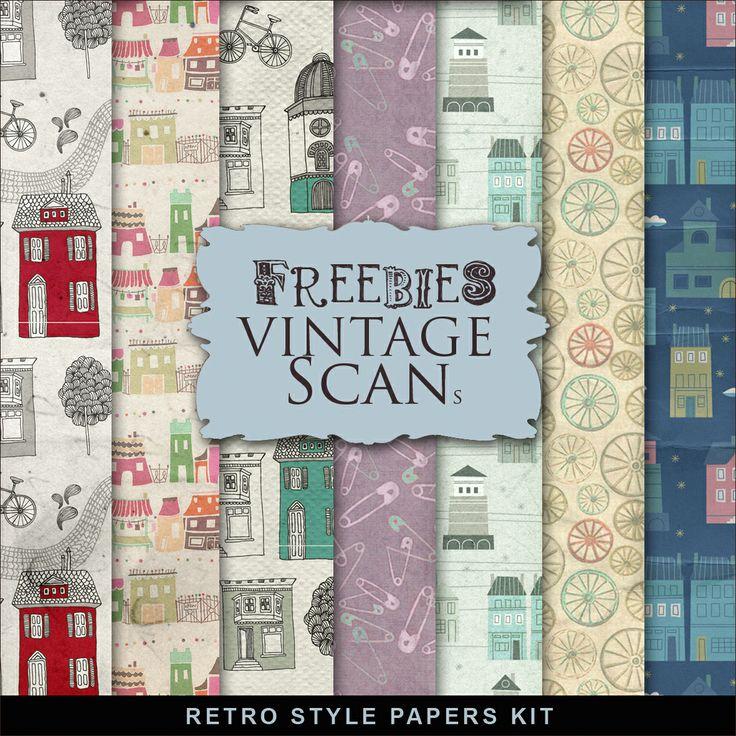 Far Far Hill: Freebies Retro Style Paper Kit