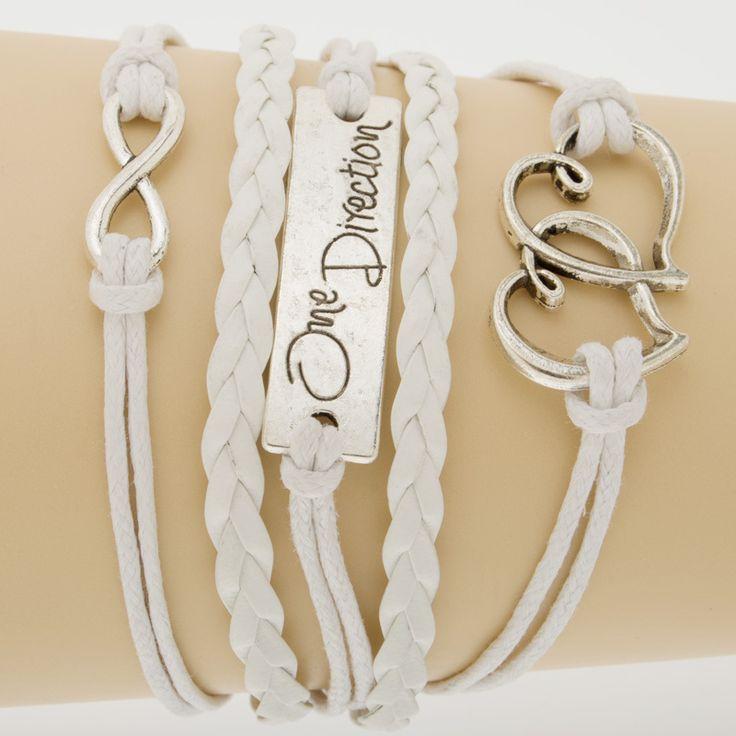 Продвижение Многослойные Плетеные Браслеты Белый Бесконечность Браслеты Дружба Ювелирные Изделия Кожа Очарование Bracelet-10035558