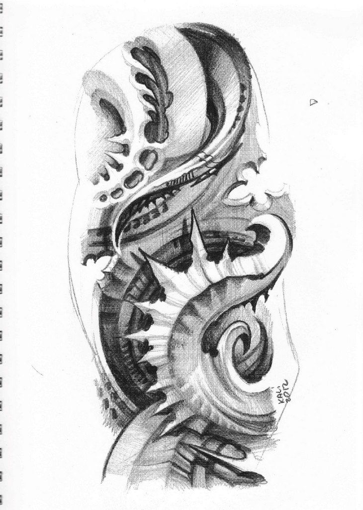 Biomech Tattoo Sketchbook By Kali Bio Organic Tattoo Organic Tattoo Biomechanical Tattoo