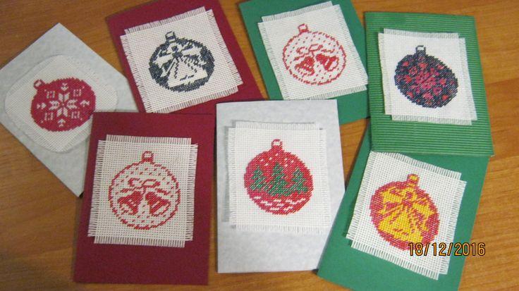 haftowane karteczki z życzeniami