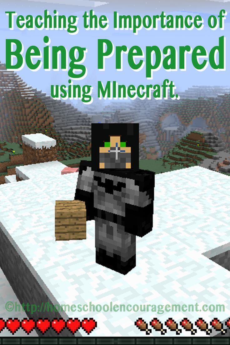 Learning About Being Prepared Using Minecraft