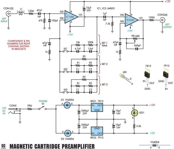 Moving Mag (MM) RIAA Phono Preamplifier Schematic | electronics in 2019 | Diy electronics