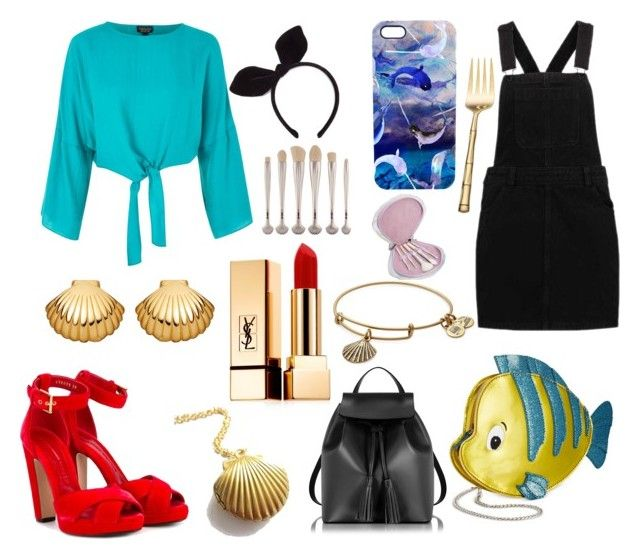 """Modern Ariel"" by disneyboundgirl01-2 ❤ liked on Polyvore featuring Topshop, Danielle Nicole, Alexander McQueen, Le Parmentier, Astley Clarke, Yves Saint Laurent, Forever 21, Nikki Strange, Wallace and Alex and Ani"