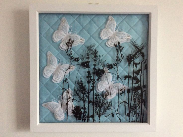 Shadow box with FSL butterflies and screen sensation on the glass