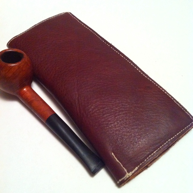 Leather wallet (closed)