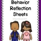 Students can use these behavior reflection sheets to discuss their behavior and make goals to change their behavior. Great for:  documentation data...FREE
