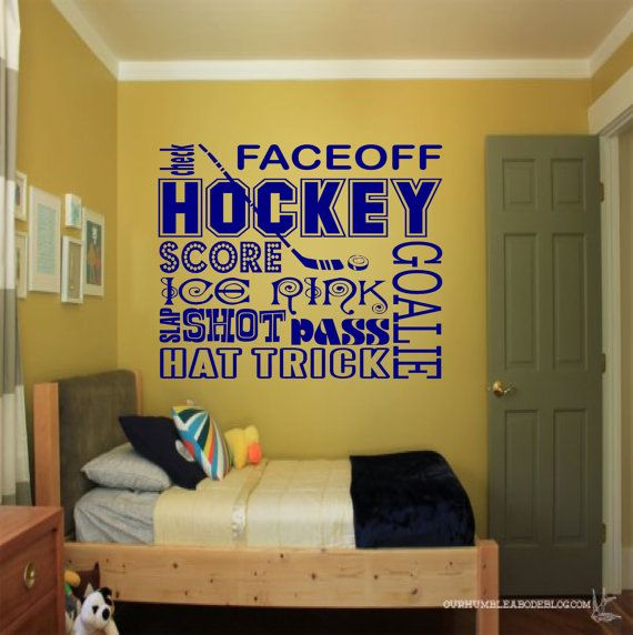 Hockey Collage Wall Decal   Sports Wall Decals, Hockey Wall Decal, Hockey  Decor,