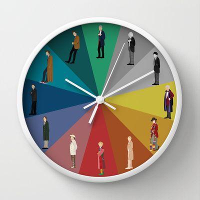 Doctor Who? Wall Clock by The Joyful Fox - $30.00