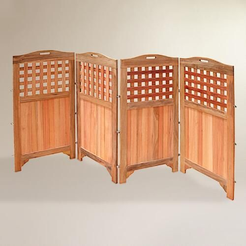 One of my favorite discoveries at WorldMarket.com: Acacia Wood Outdoor 4-Panel Screen