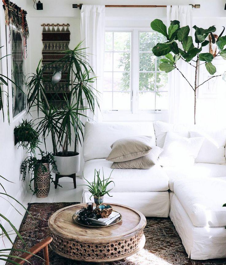 my scandinavian home: Step inside Jennifer Harrison's bohemian style home #whitesofa #indoorplants #livingroom