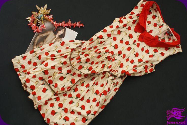 YUMI sukienka Z KOŁNIERZYKIEM jabłuszka   PASEK 42