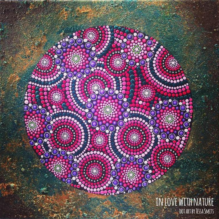 abstract dot art painting IN LOVE WITH NATURE Tessa Smits full