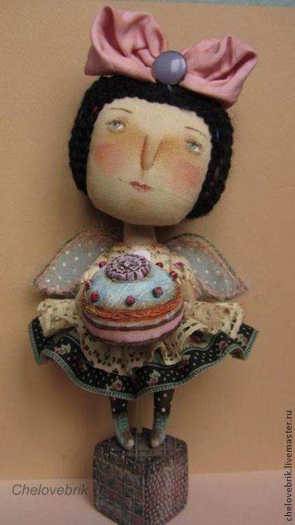""""""" Лиза"""" - ангел,текстильная кукла,кукла ангел,человебрик,наивный стиль"""