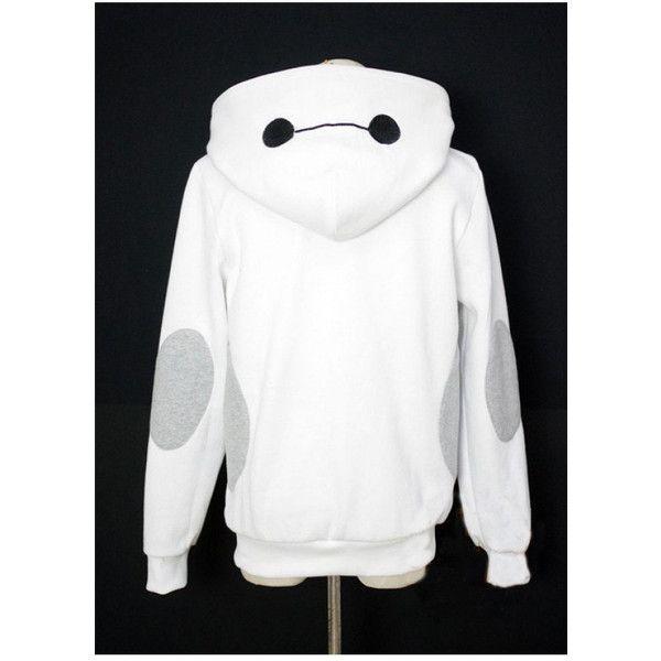 Baymax Hoodie Kigurumi Cosplay Charactor Animal Hooded Pajamas Pyjamas... (53 CAD) ❤ liked on Polyvore featuring jackets, sweaters, tops, hoodies, black, sweatshirts and women's clothing