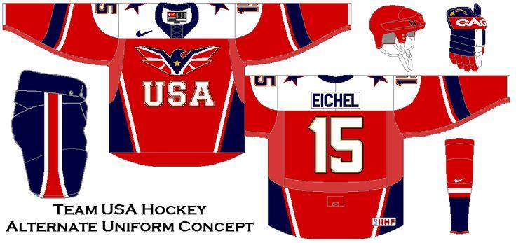 Team USA Hockey Alternate Uniform Concept