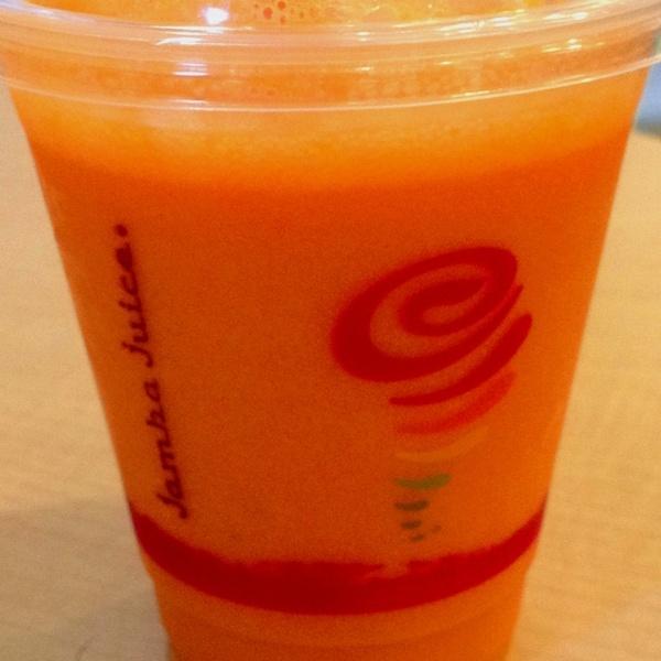 Orange carrot & banana fresh squeezed juice