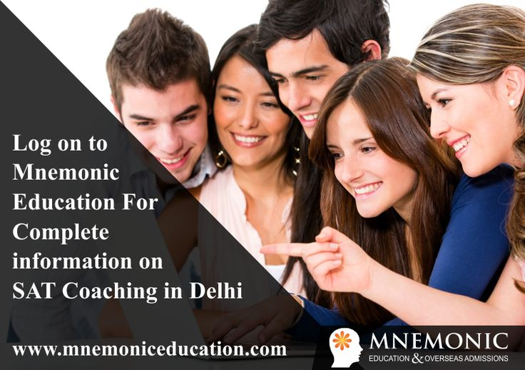 Looking for SAT Coaching in Delhi? Join Mnemonic Education and have direct interaction with writers of SAT. They will guide you how to crack SAT Test, essay writing tips & techniques and evaluating your strengths and weakness. Join SAT test experts at Mnemonic.