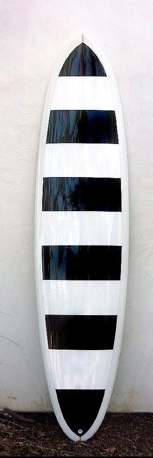 : Girls Surfboard, Beaches House, Black And White, Surfing Boards, Surfing Up, Stripes Surfboard, Black White Stripes, Girls And Surfboard, Surfboard Decor