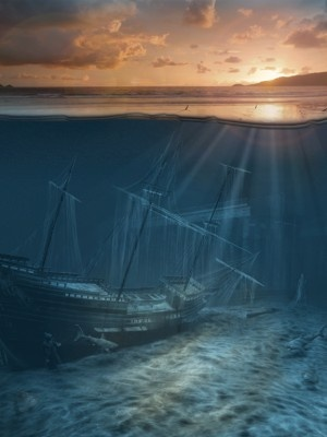 Ghost Ship Series - PIrate Shipwreck by George Grie