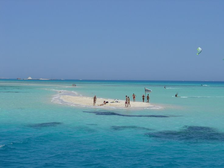 The beautiful very clear and very blue Red Sea at Hurghada, Egypt