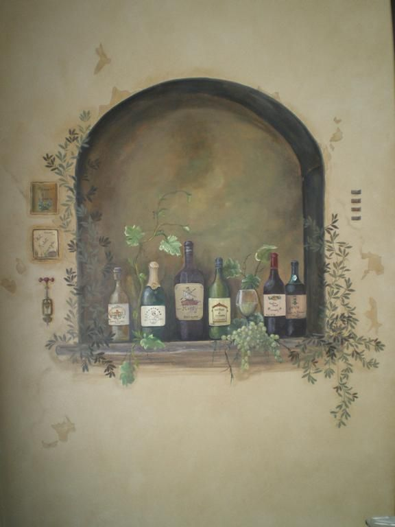 17 best images about tuscan faux paint techniques on for Acrylic mural painting techniques