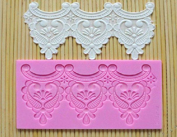 how to make fondant lace appliques