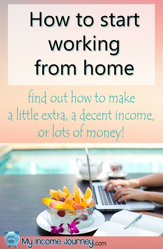 How to start working from home. Learn how to make a little extra, a decent income, or lots of money!