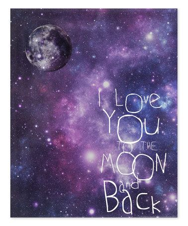 Love this 'I Love You to the Moon and Back' Galaxy Wall Art by Canvas Kudos on #zulily! #zulilyfinds