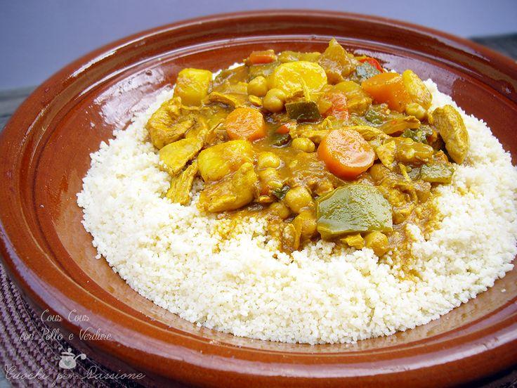 Oggi vi porto in Nord Africa, ho scelto per voi il cous cous con pollo e verdure, il più usato nella cucina marocchina e tunisina.