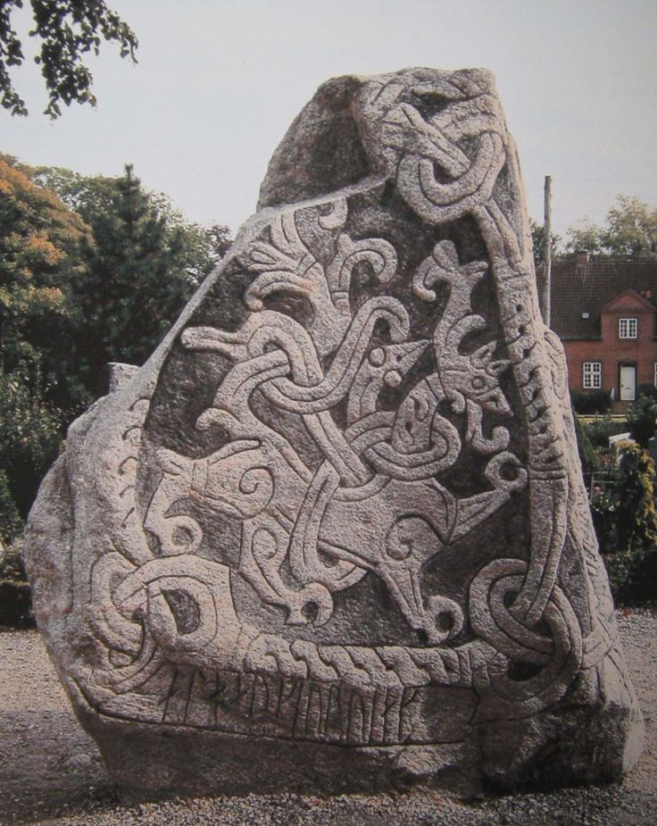 Huge list of links to photos and drawings of Danish rune stones. This is one side of the big Jellinge stone in Jylland, not the Snoldele stone, as some pins are saying.