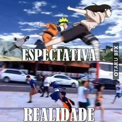 meme corrida naruto otaku memes tirinhas humor