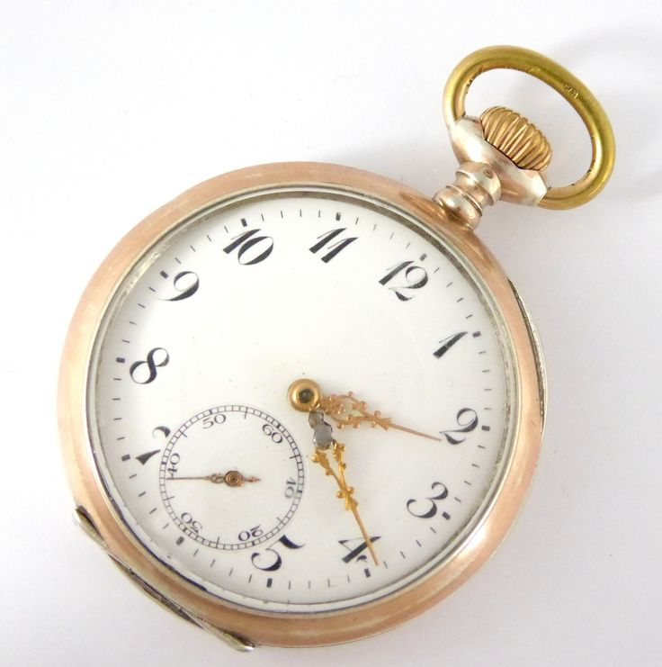 Beautiful Antique 1900s German .800 Silver and Gold Pocket Watch - The Collectors Bag