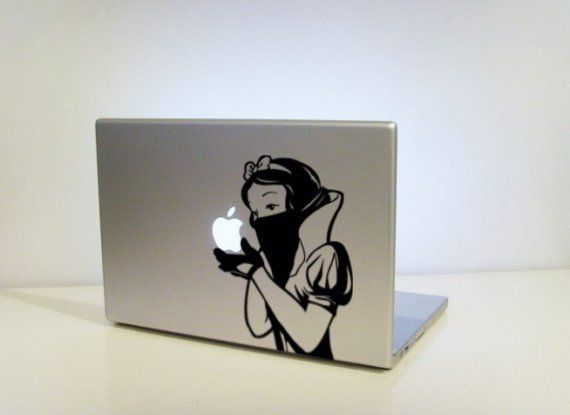 Snow's Revenge by vinylville on EtsyVinyls Decals, Macbook Stickers, Apples Bites, Laptops Cases, Pro Mac, Book Covers, Macbook Skin, Mirrors Mirrors, Snow White
