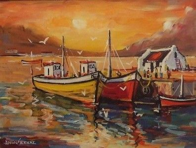 Boats In Harbour - Gericke Anton