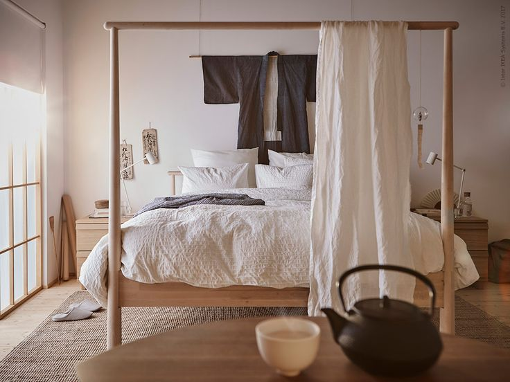Sängen GJÖRA,  LOHALSmatta,OPPLANDbyrå,RIGGAD LEDarbetslampa med trådlös laddning,ALVINE STRÅ påslakan med 2 örngott.