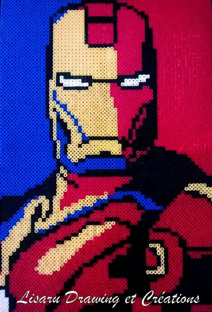 Iron Man hama perler beads by lisaru38