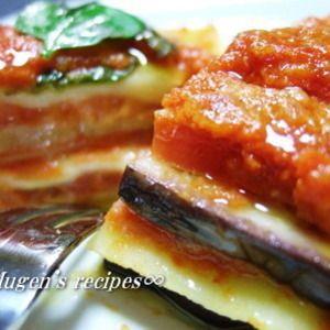 ナス&トマトにモッツァレラチーズのとろけ〜るラザニア☆彡 by 渡辺ム玄さん | レシピブログ - 料理ブログのレシピ満載!     レシピブログのランキングに参加中♪ 皆さまの素敵なサイトがランキングになっています♪        こんにちは(^O^)/ ∞むげん∞です  今日は、ハリとツヤがある米なすをスーパーの店員さん...